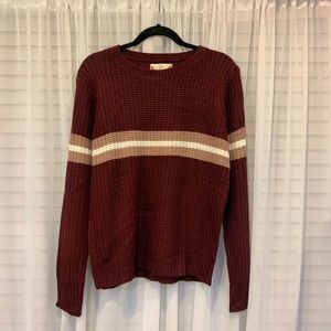 NWT Pink Rose Burgundy Stripped Sweater